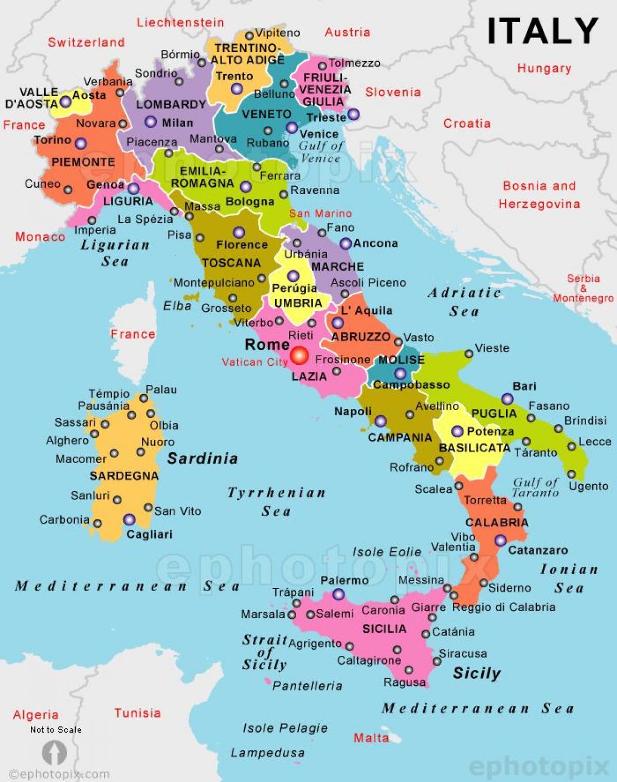 Xarth Ths Italias Poy Einai H Italia Sto Xarth Notia Eyrwph